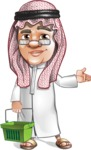 Saudi Arab Man Cartoon Vector Character AKA Wazir the Advisor - Basket