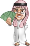 Saudi Arab Man Cartoon Vector Character AKA Wazir the Advisor - Show me the money
