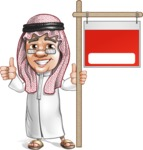 Saudi Arab Man Cartoon Vector Character AKA Wazir the Advisor - Sale