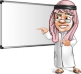 Saudi Arab Man Cartoon Vector Character AKA Wazir the Advisor - Presentation 1