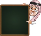 Saudi Arab Man Cartoon Vector Character AKA Wazir the Advisor - Presentation 2