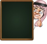 Saudi Arab Man Cartoon Vector Character AKA Wazir the Advisor - Presentation 3