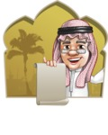 Saudi Arab Man Cartoon Vector Character AKA Wazir the Advisor - Shape 2