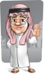 Saudi Arab Man Cartoon Vector Character AKA Wazir the Advisor - Shape 9