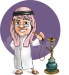 Saudi Arab Man Cartoon Vector Character AKA Wazir the Advisor - Shape 11