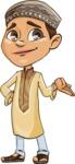 Muslim School Boy Cartoon Vector Character AKA Akeem - Sorry