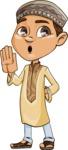 Muslim School Boy Cartoon Vector Character AKA Akeem - Stop 2