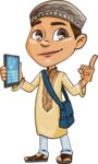 Muslim School Boy Cartoon Vector Character AKA Akeem - Support