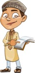 Muslim School Boy Cartoon Vector Character AKA Akeem - Book 1