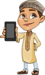 Muslim School Boy Cartoon Vector Character AKA Akeem - iPhone