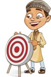 Muslim School Boy Cartoon Vector Character AKA Akeem - Target