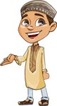 Muslim School Boy Cartoon Vector Character AKA Akeem - Showcase 1