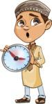 Muslim School Boy Cartoon Vector Character AKA Akeem - No Time