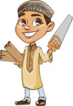 Muslim School Boy Cartoon Vector Character AKA Akeem - Under Construction