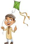 Muslim School Boy Cartoon Vector Character AKA Akeem - Wind Toy