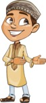 Muslim School Boy Cartoon Vector Character AKA Akeem - Show 2