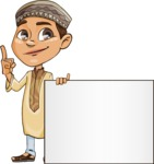 Muslim School Boy Cartoon Vector Character AKA Akeem - Presentation 1
