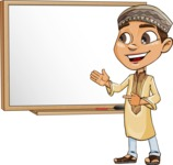 Muslim School Boy Cartoon Vector Character AKA Akeem - Presentation 3