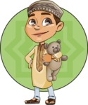 Muslim School Boy Cartoon Vector Character AKA Akeem - Shape 5