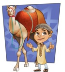 Muslim School Boy Cartoon Vector Character AKA Akeem - Shape 7