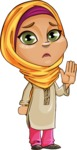 Nasira the Caring Arabic Girl - Good Bye
