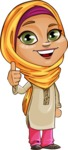 Nasira the Caring Arabic Girl - Thumbs Up