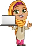 Nasira the Caring Arabic Girl - Laptop 2