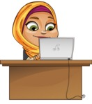 Nasira the Caring Arabic Girl - Laptop 4