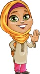 Nasira the Caring Arabic Girl - Wave