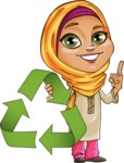 Nasira the Caring Arabic Girl - Recicling