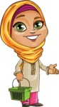 Nasira the Caring Arabic Girl - Basket