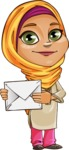 Nasira the Caring Arabic Girl - Letter