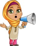 Nasira the Caring Arabic Girl - Laudspeaker