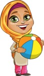 Nasira the Caring Arabic Girl - Beach Ball