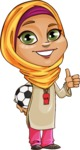 Nasira the Caring Arabic Girl - Soccer
