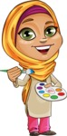 Nasira the Caring Arabic Girl - Paint