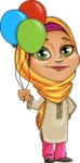 Nasira the Caring Arabic Girl - Baloons