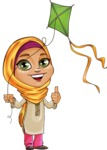 Nasira the Caring Arabic Girl - Wind Toy