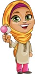 Nasira the Caring Arabic Girl - Icecream