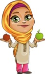Nasira the Caring Arabic Girl - Apples