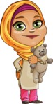 Nasira the Caring Arabic Girl - Tedy Bear