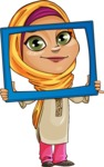 Nasira the Caring Arabic Girl - Frame