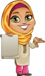 Nasira the Caring Arabic Girl - Sign 4