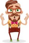Vintage Fashion Style Man Cartoon Vector Character AKA Jacob - Shocked