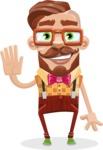 Vintage Fashion Style Man Cartoon Vector Character AKA Jacob - Wave