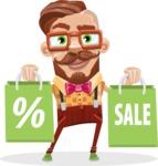 Vintage Fashion Style Man Cartoon Vector Character AKA Jacob - Sale2