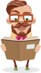 Vintage Fashion Style Man Cartoon Vector Character AKA Jacob - Book 1