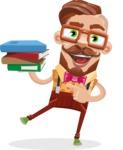 Vintage Fashion Style Man Cartoon Vector Character AKA Jacob - Book 2