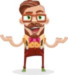 Vintage Fashion Style Man Cartoon Vector Character AKA Jacob - Showcase 1