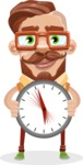 Vintage Fashion Style Man Cartoon Vector Character AKA Jacob - Time is Yours